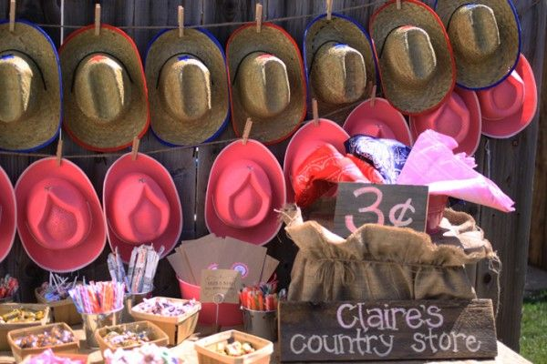 @Cowgirl Party--Could be a grownup party too. Just add more sophisticated looking hats.