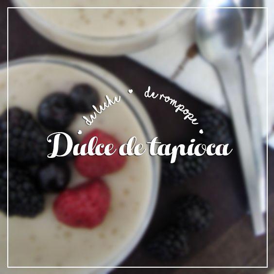 La tapioca proviene de una planta llamada yuca de origen tropical. Una de las formas de presentación es en forma de pequeñas perlas blancas que una vez hidratadas y cocidas se tornan transparentes. Con ellas se forma una crema, que lleva leche y otros ingredientes.