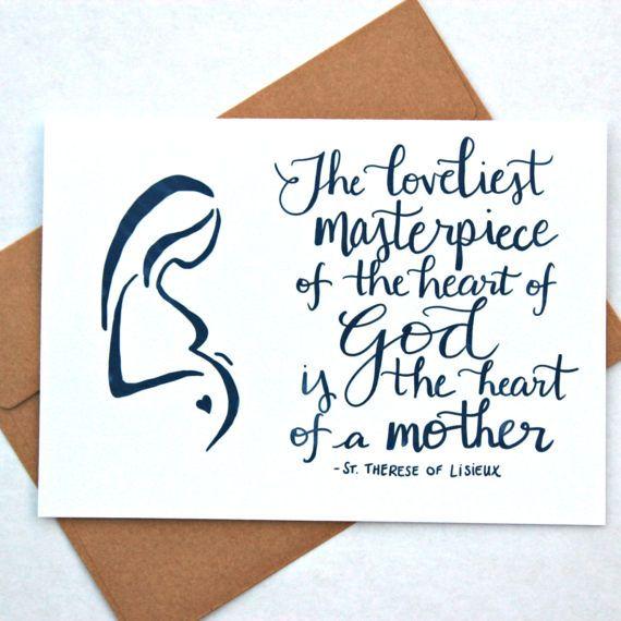 Mother\u0027s Day Card - Masterpiece - Catholic Greeting Card - 5x7
