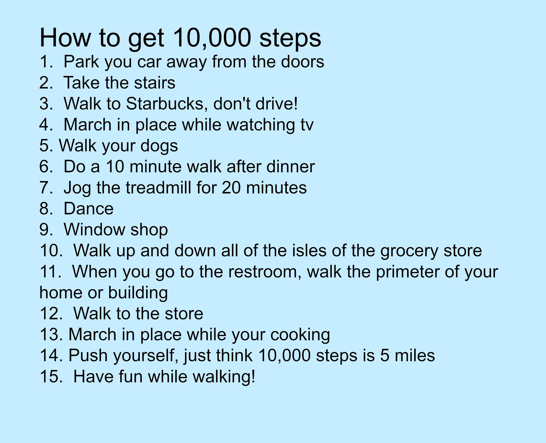 10 000 steps omronfitness mamavation pinterest fitbit exercises and workout. Black Bedroom Furniture Sets. Home Design Ideas