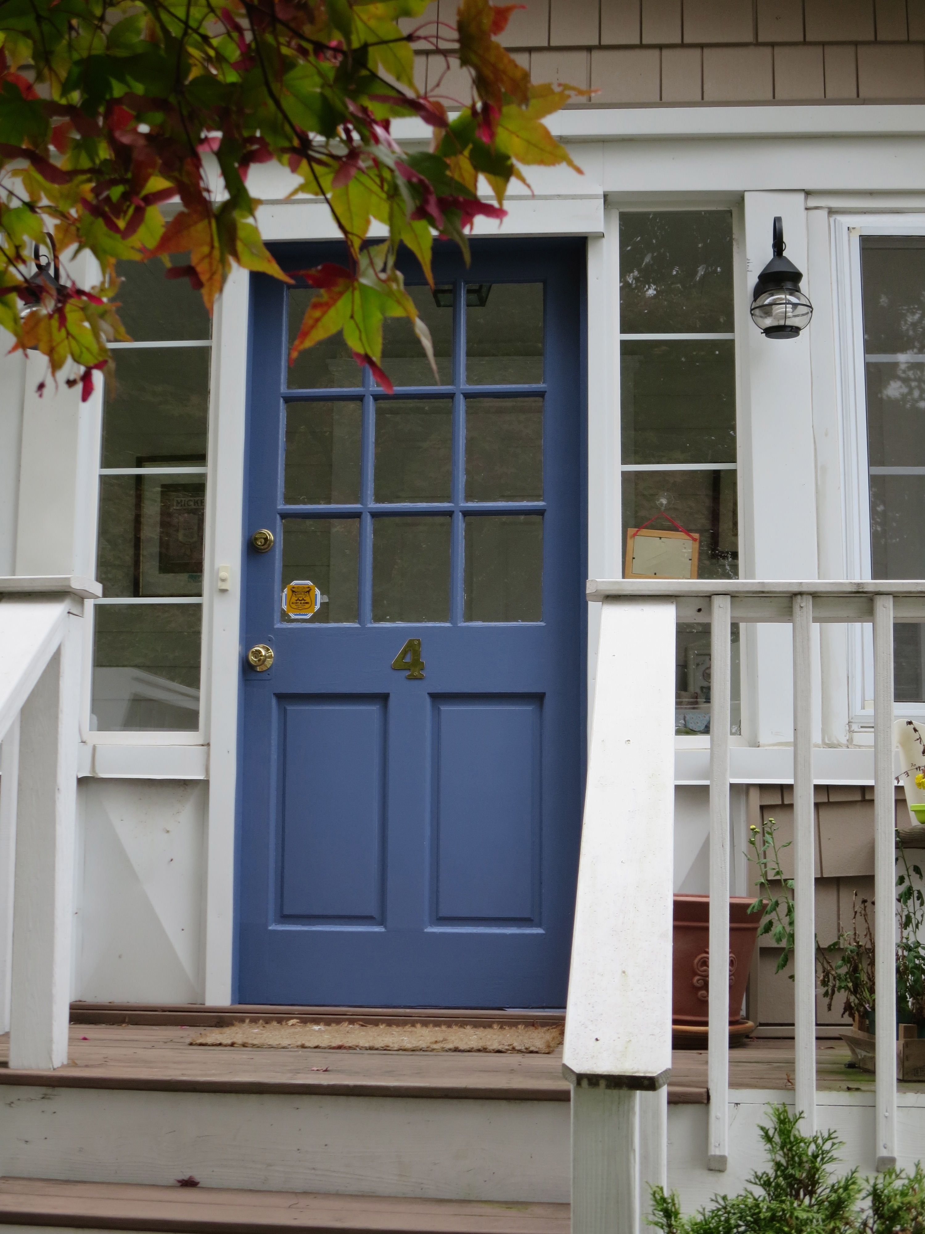 Diy Blue Front Door For Your Home Painted Front Doors Front Door Colors Front Door Paint Colors
