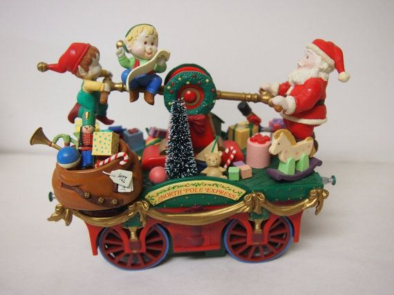 Enesco Action Musical Keeping Santa on Track Christmas