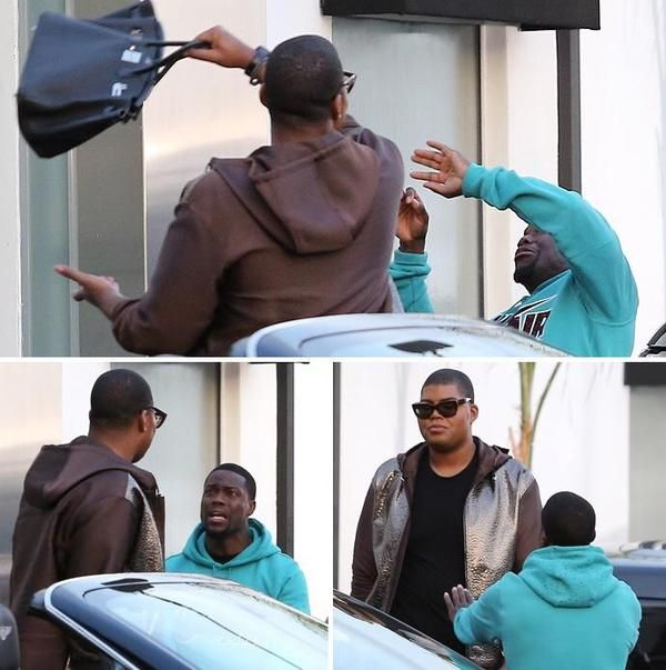 """crymeweaves: """"EJ Johnson beating Kevin Hart with his $70,000 Birkin Bag """""""