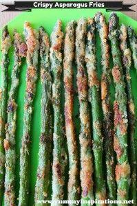 Crispy Asparagus Fries and more vegetable Paleo side dishes recipes on MyNaturalFamily.com #paleo