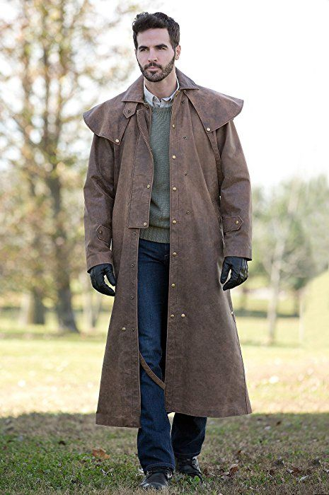 Montgomery Lambskin Leather Duster With Cape Dark Distressed Size Small 42 Men S Trench Coat Mens Leather Coats Fashion For Men Over 50