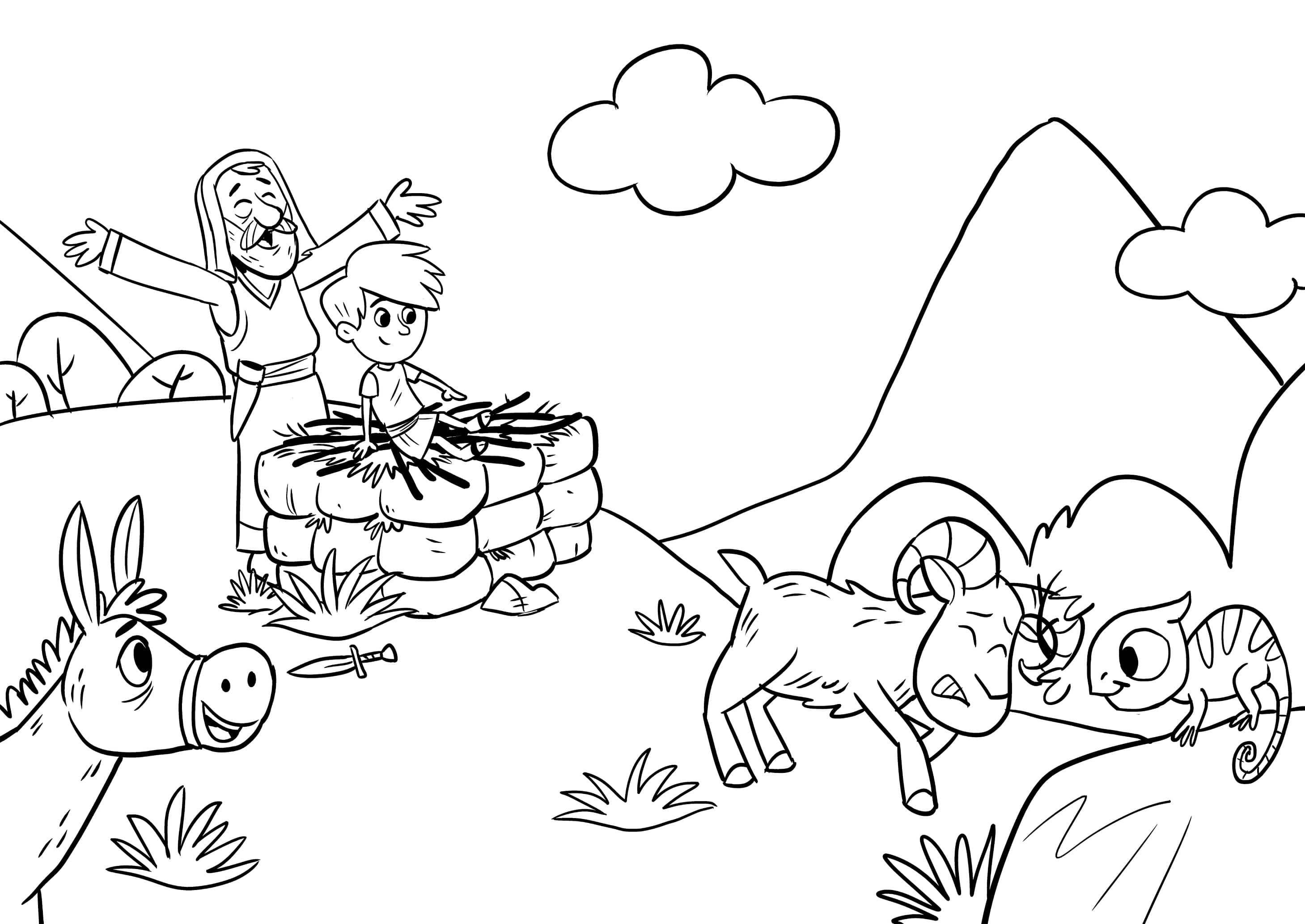 Coloring Page Abraham And Isaac Detailed Coloring Pages Monster Truck Coloring Pages Coloring Pages