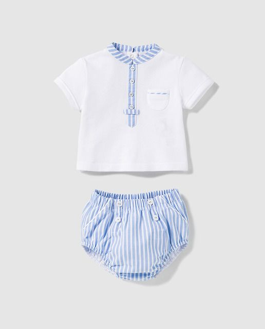 760f97806 Conjunto de bebé niño Dulces de rayas en azul | Baby Boy | Niño bebé ...