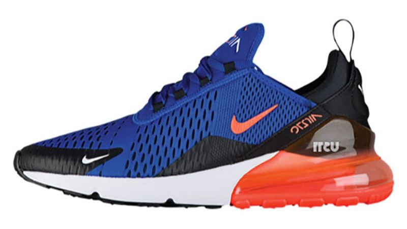 competitive price c0dd3 a1773 Men s Nike Air Max 270 Shoes Royal Blue Orange White Black UK Trainers