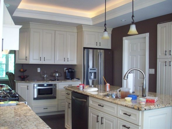 kitchens with tray ceilings | Tray Ceiling Kitchen Renovation, 2011 Kitchen  renovation with a tray