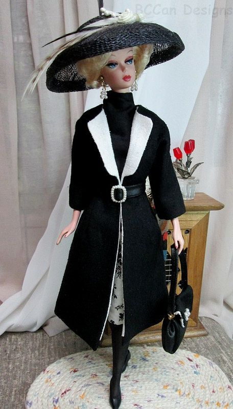 220 Bccan Designs Black White Coat For Silkstone 3 Spring Outfits Casual Dress Barbie Doll Barbie Gowns