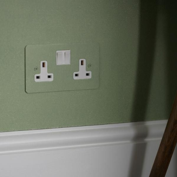 Uk Painted Double 13amp Socket With White Insert Light Switches And Sockets Bathrooms Designs Pictures Bathroom Sink Design