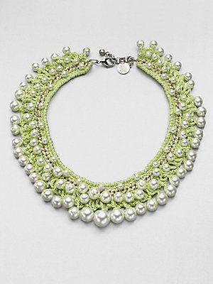 Venessa Arizaga Disco Beaded Necklace. Different, yet gorgeous.