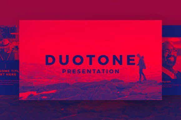 duotone powerpoint template +giftdublin_design on, Powerpoint templates
