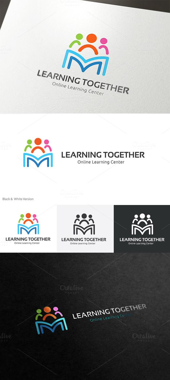 Learning Together With Images Book Logo Learning Logo