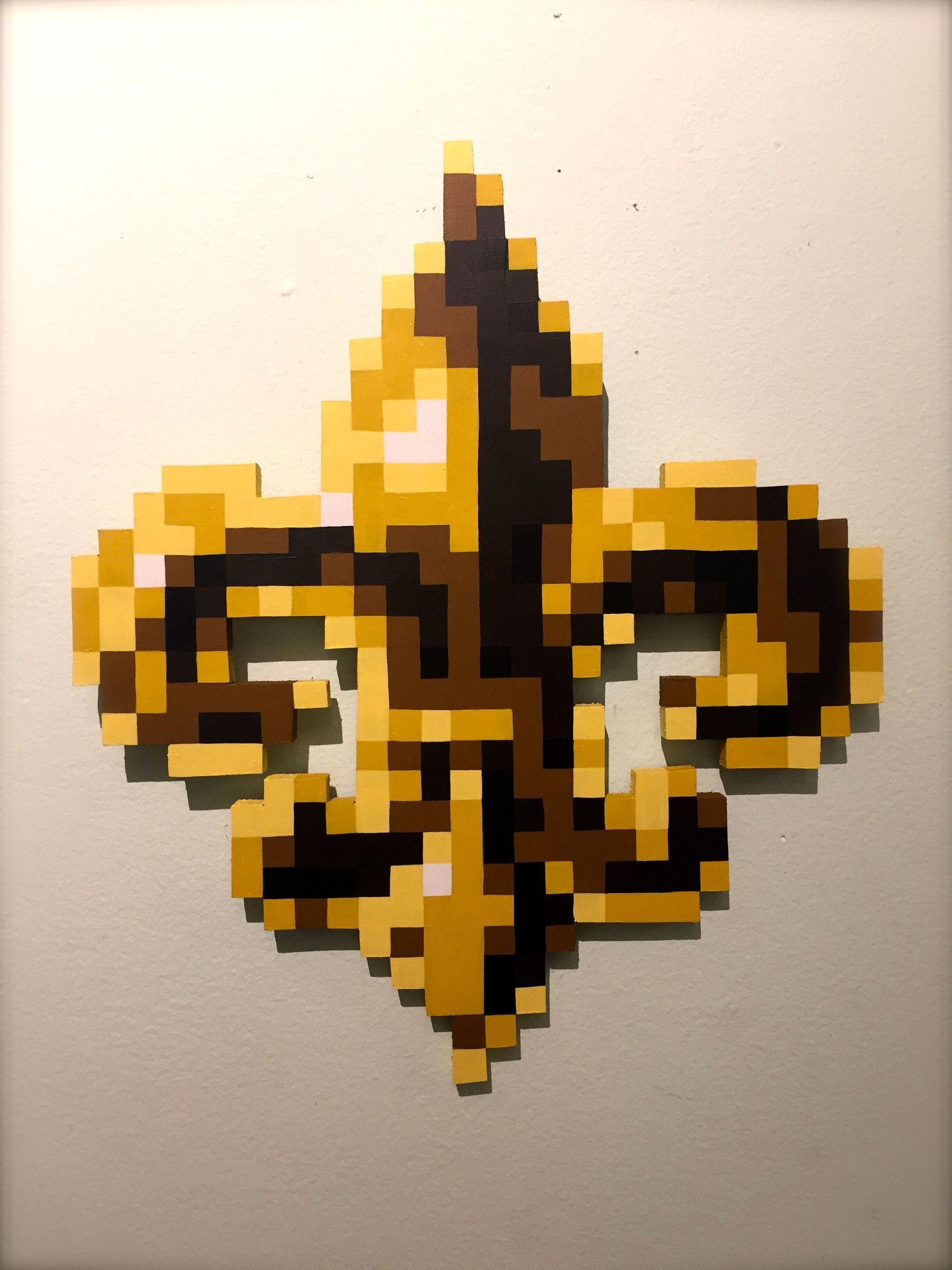 Erik Orr Pixel Yellow Fleur De Lis Perler And Other Melty Bead