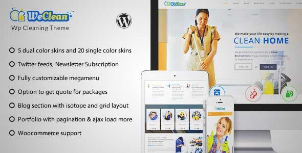Download and review of We Clean - Cleaning Company WordPress Theme ...
