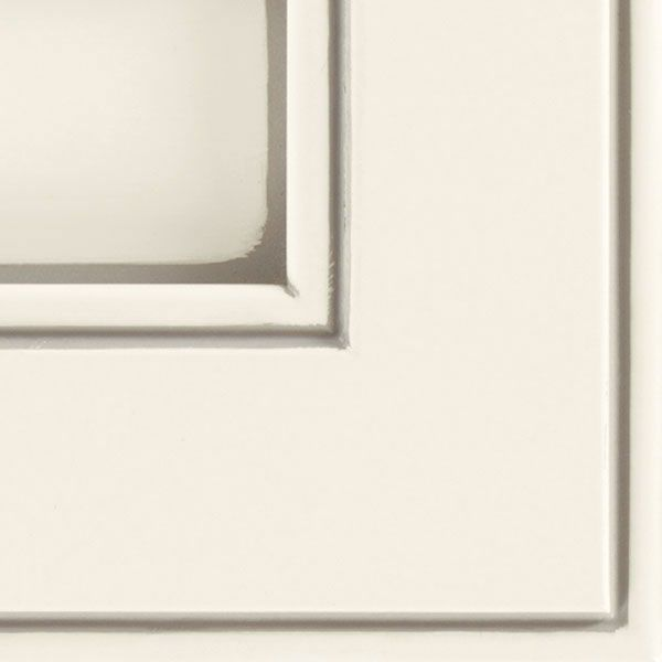 Off White Glazed Kitchen Cabinets: A Bright White Opaque Glazed Cabinet Finish Creating A