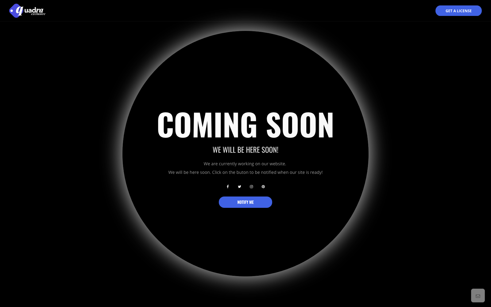Quadra Exclusive Website Template Creative Coming Soon Design With