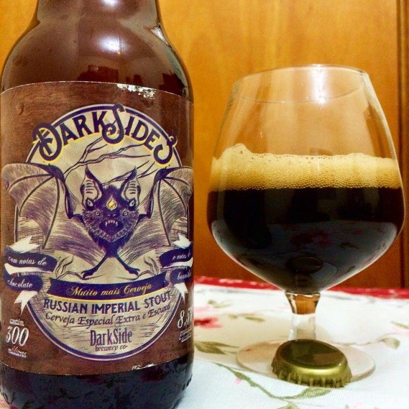 Cerveja DarkSide 3, estilo Russian Imperial Stout, produzida por Dark Side Brewery, Brasil. 8.5% ABV de álcool.