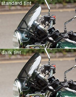 Dart Flyscreen For The Triumph Bonneville T100 Se And Black