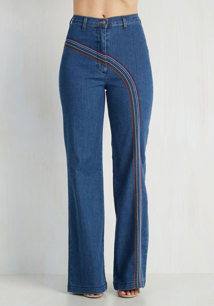 Rainbow with Me Jeans | Mod Retro Vintage Pants | ModCloth.com