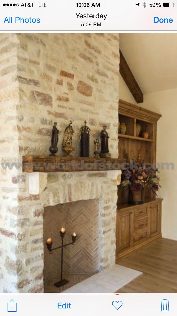 Whitewash Brick Hendrik Cottage Pinterest Ambiance Id E  # Brick Meuble Tv Avec Foyer