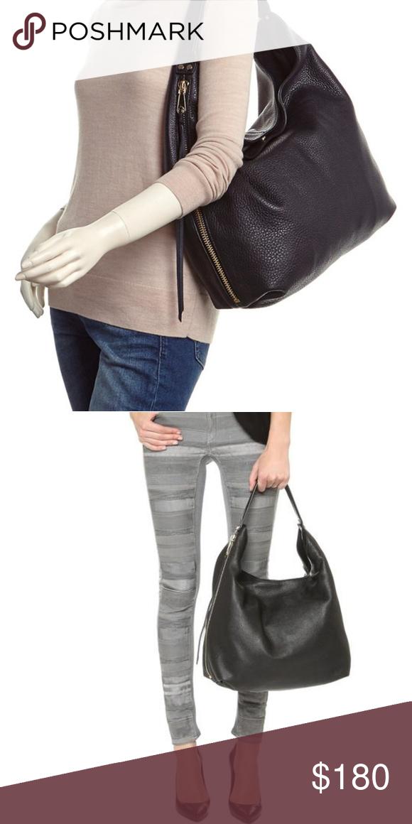 Rebecca Minkoff Bryn double zip black leather hobo A slouchy Rebecca  Minkoff hobo bag in pebbled e3b4154d89