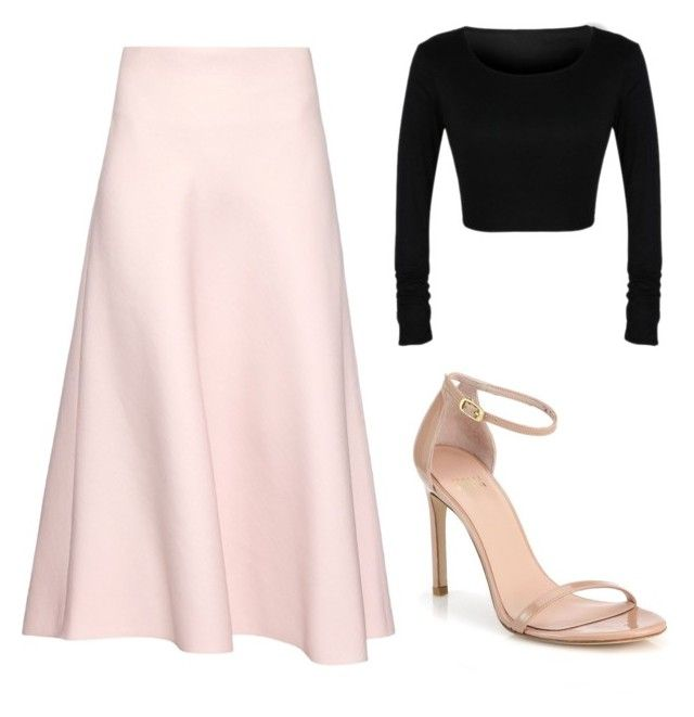 """""""Chic Look #1."""" by mzelleshort ❤ liked on Polyvore featuring Valentino and Stuart Weitzman"""