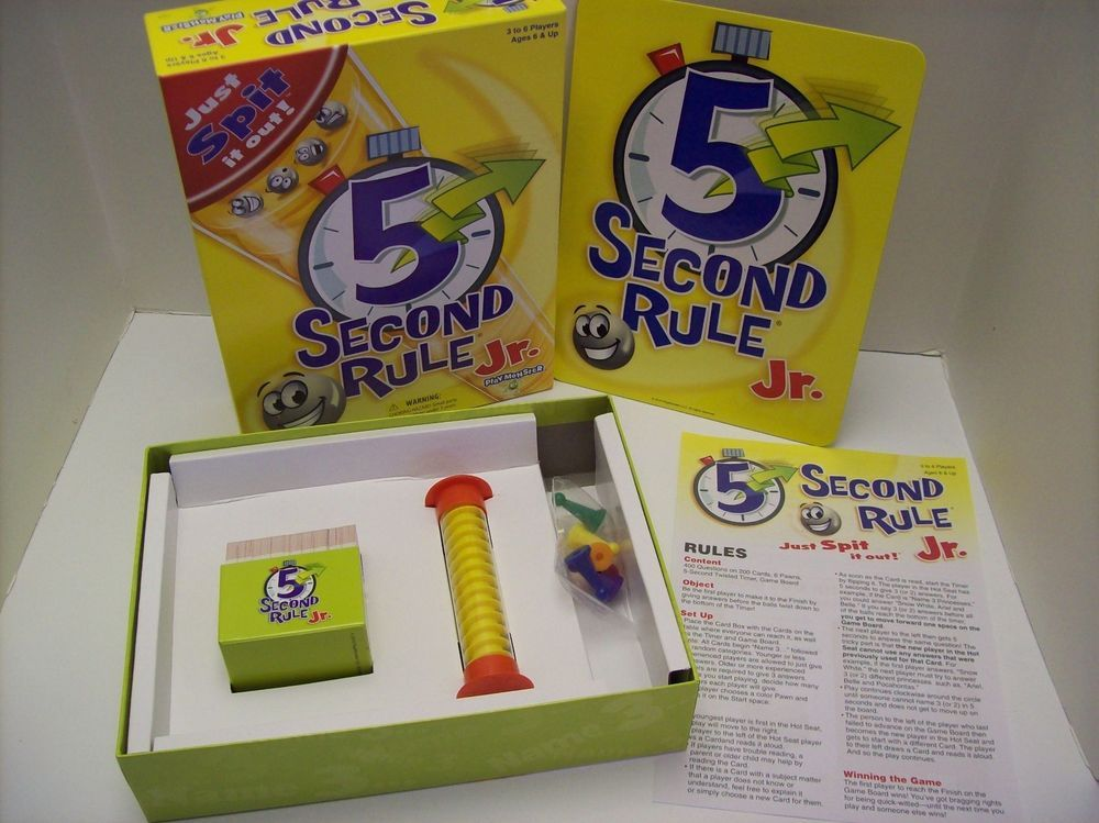 5 Second Rule Junior Family Version Party Game Board Games Kids Fast