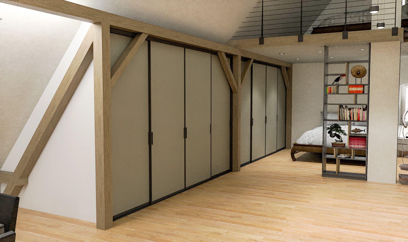 Egal Ob Unter Einer Dachschrage Oder Gegen Eine Dachschrage Cabinet Ist Die Losung Einbauschrank Dachschrage Einbauschrank Dachschrage