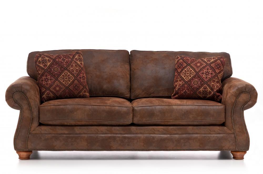 Laramie Sofa By Broyhill Furniture Brown Leather Sofa