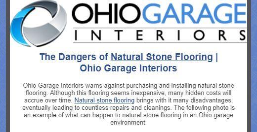 Garage Flooring Garage Interior Natural Stone Flooring