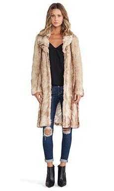 Unreal Fur My Fur Lady Coat in Natural Beige
