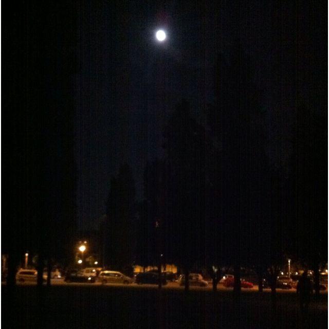 Sant Cugat del Vallès in the night