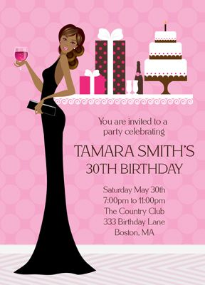 African American Sassy Birthday Invitation Barbie 35th Party Wishes