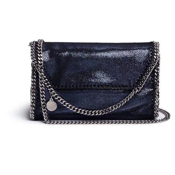 Stella McCartney  Falabella  shaggy deer foldover chain shoulder bag  (46.810 RUB) ❤ 8957e21c54