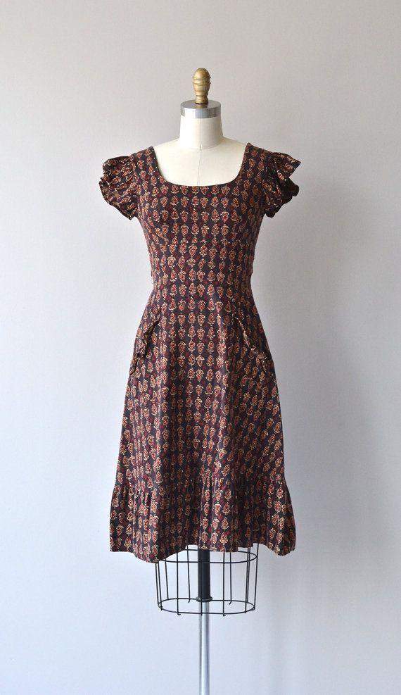 Choti dress vintage 1970s indian cotton dress 70s by DearGolden