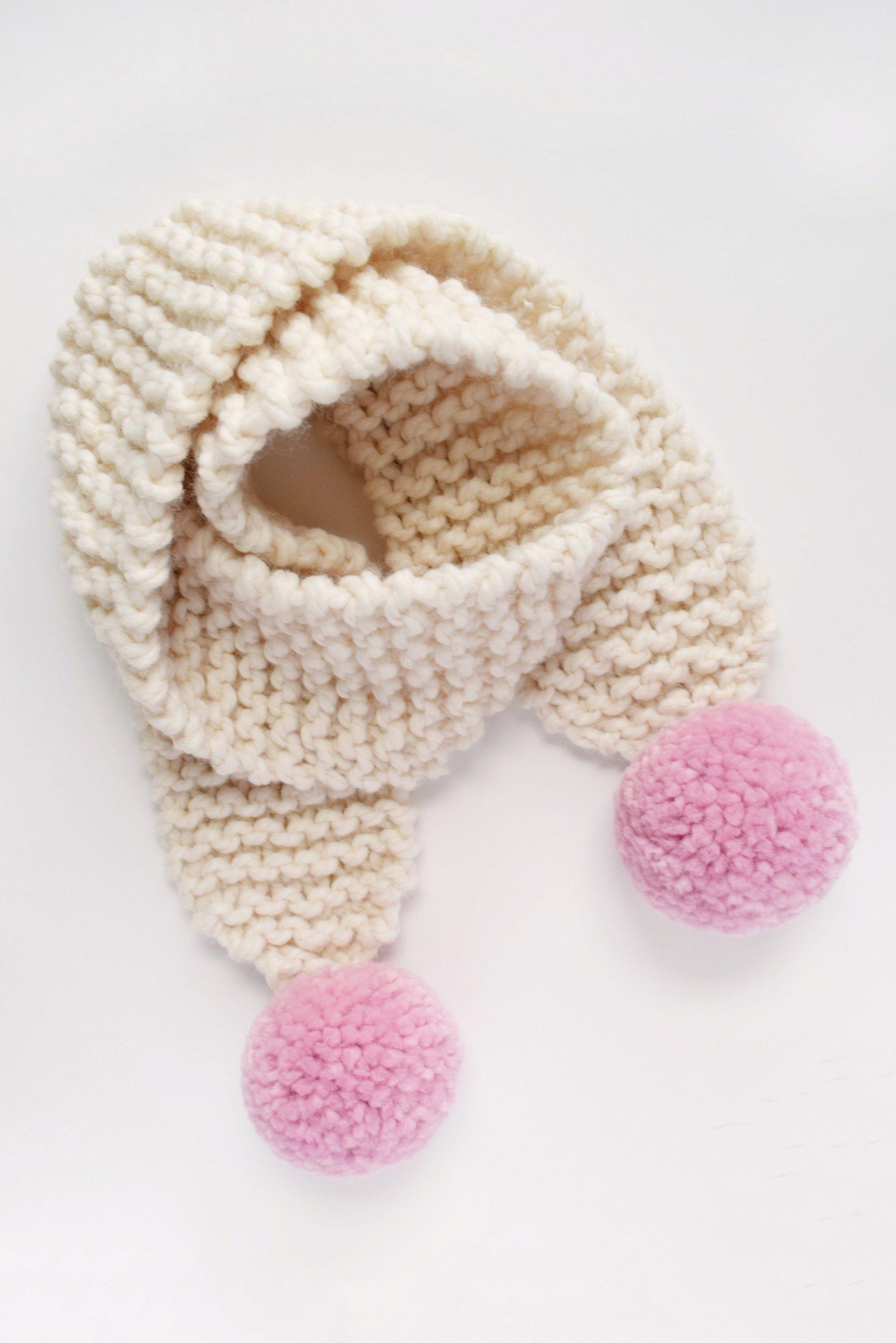 Knit Pom Pom Scarf Pattern - for Kiddos (with Destiny | ponchos ...
