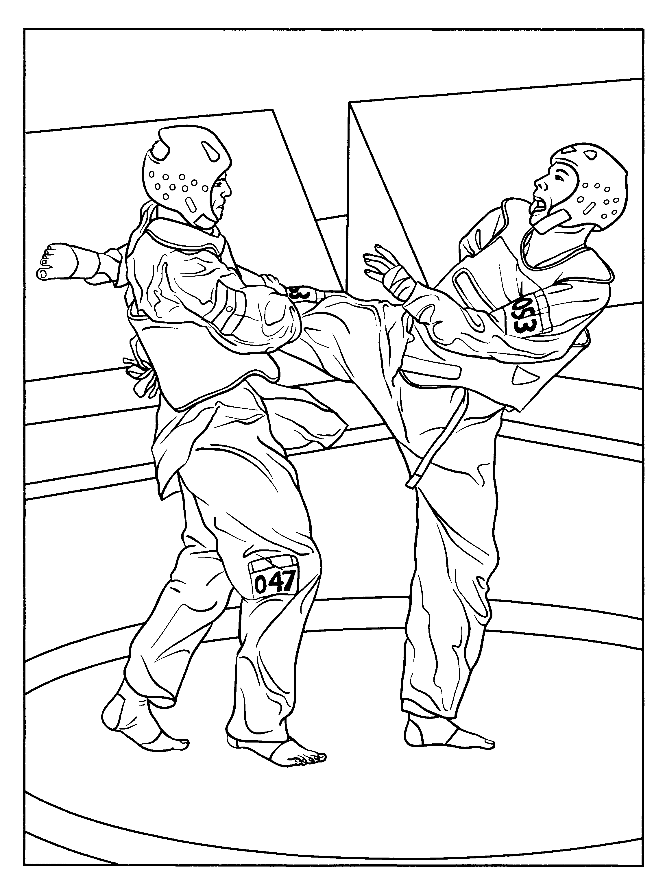 karate coloring pages for kids coloring pages pinterest karate kick