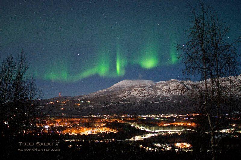 Northern Lights over Eagle River, Alaska Our hometown