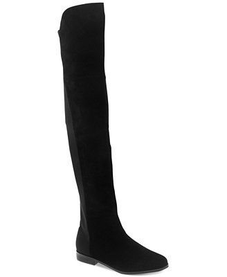 6f7acaaa864 Chinese Laundry Riley 50 50 Over-the-Knee Stretch Boots THEESEE  3 black  leather or smoke grey suede.