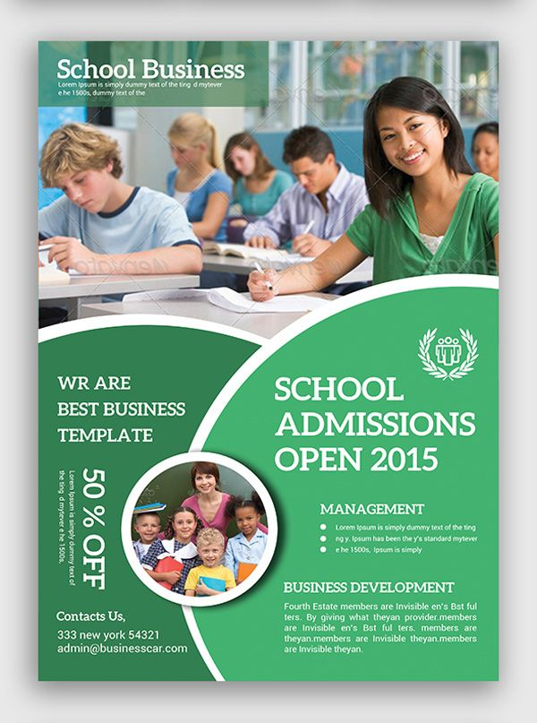 Education Flyer  Typo And Design    Brochures And Typo