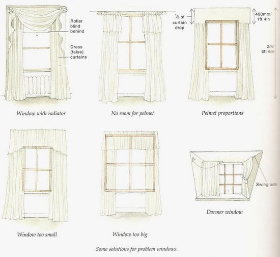 Great tips on window treatments and how to solve the most common problems and difficult spaces with window coverings.