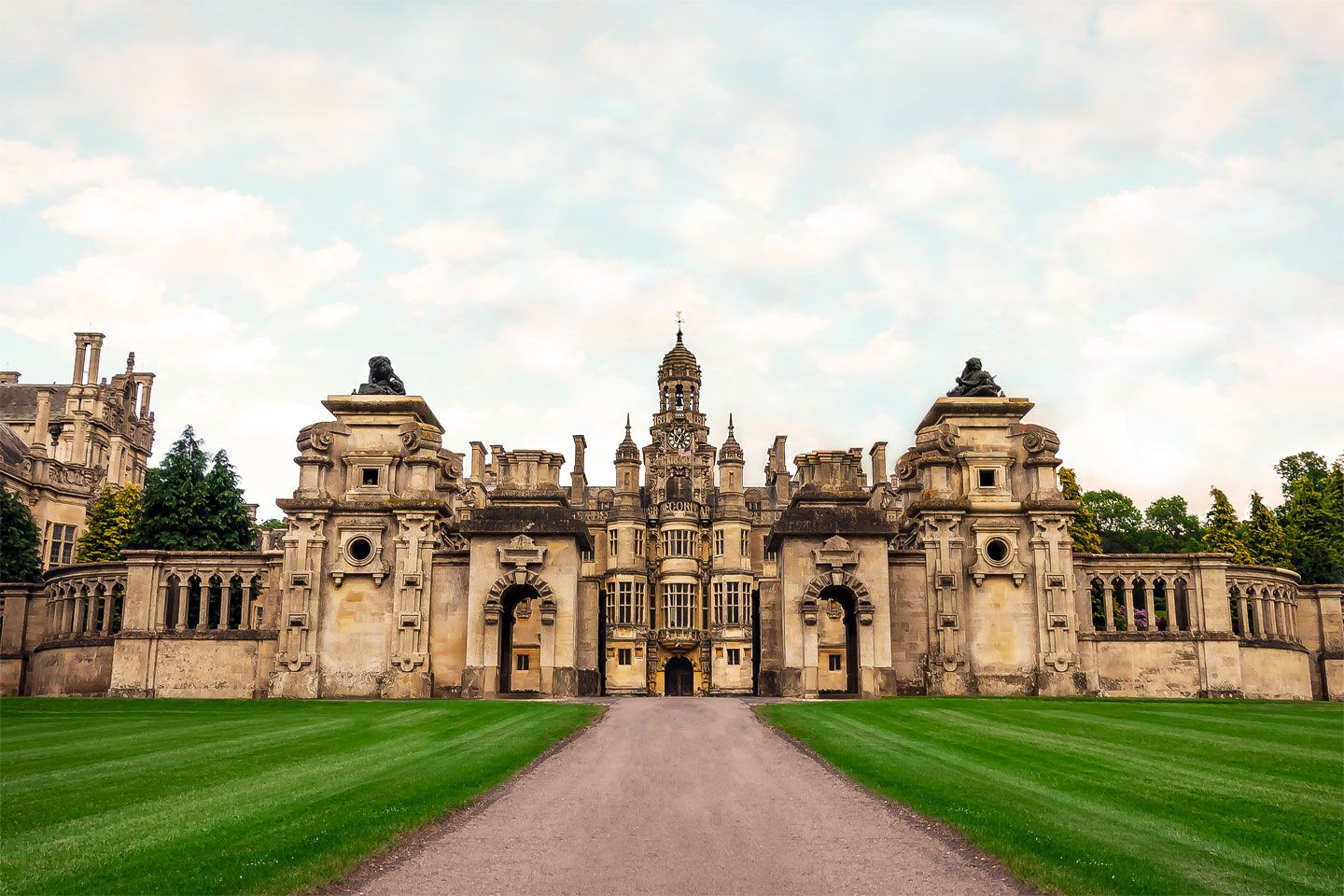 Harlaxton Manor Built In 1837 Is A Manor House Located In
