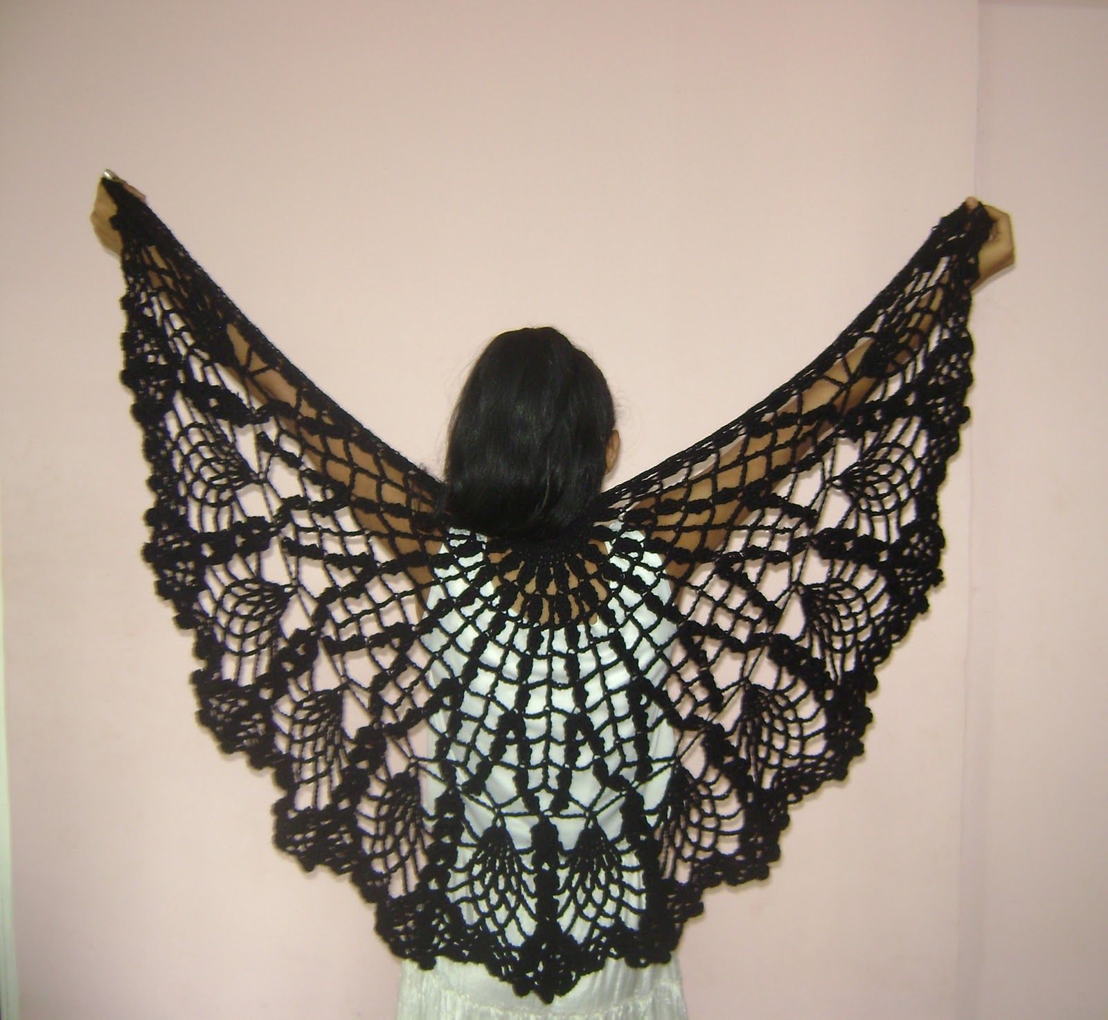 free+shawl+crochet+patterns | FREE PATTERN FOR CROCHET PINAPPLE ...