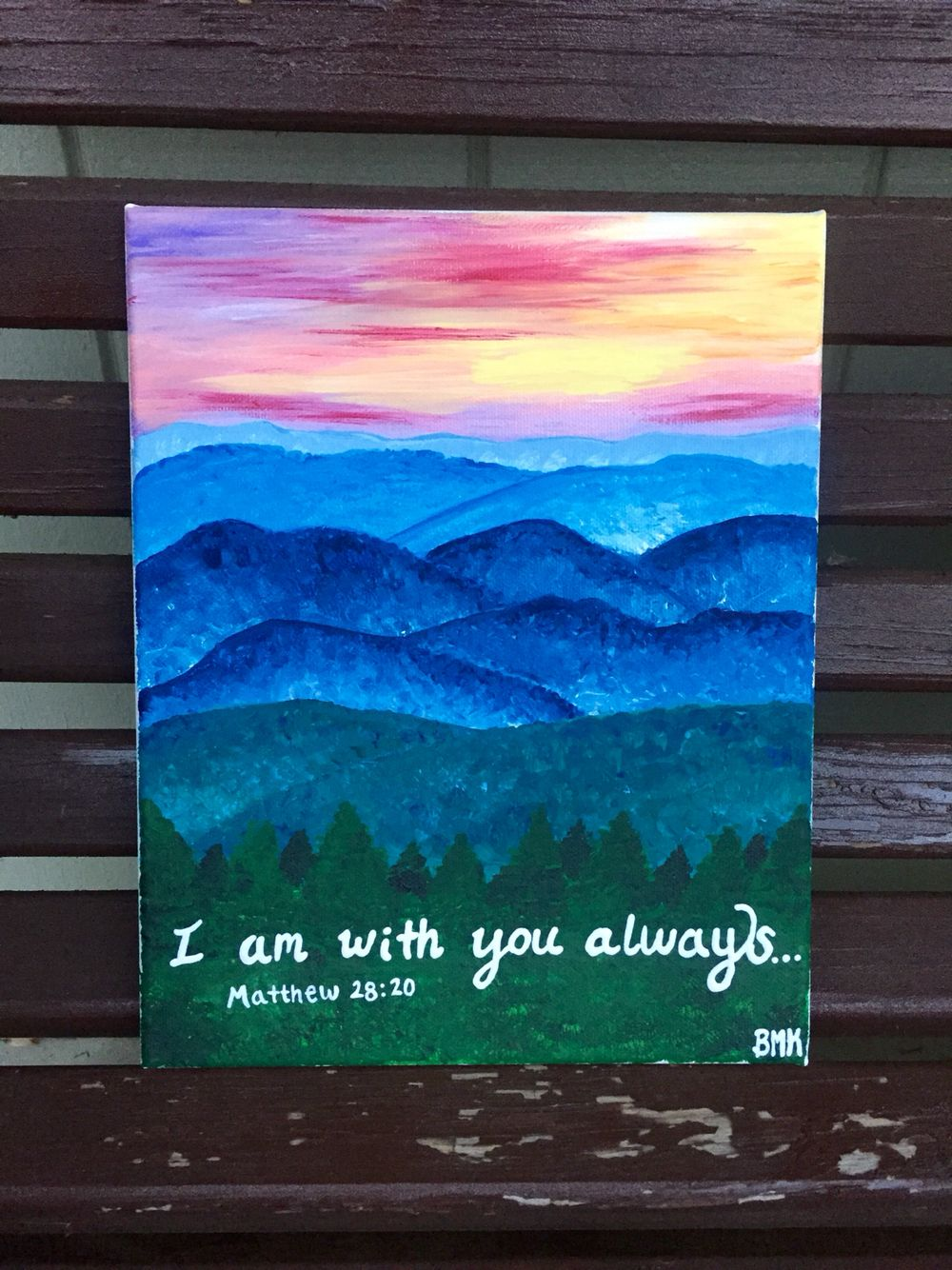 Matthew 28 10 I Am With You Always Bible Verse Canvas Mountains And Sunset Backgrou Bible Verse Canvas Christian Canvas Paintings Christian Canvas Art