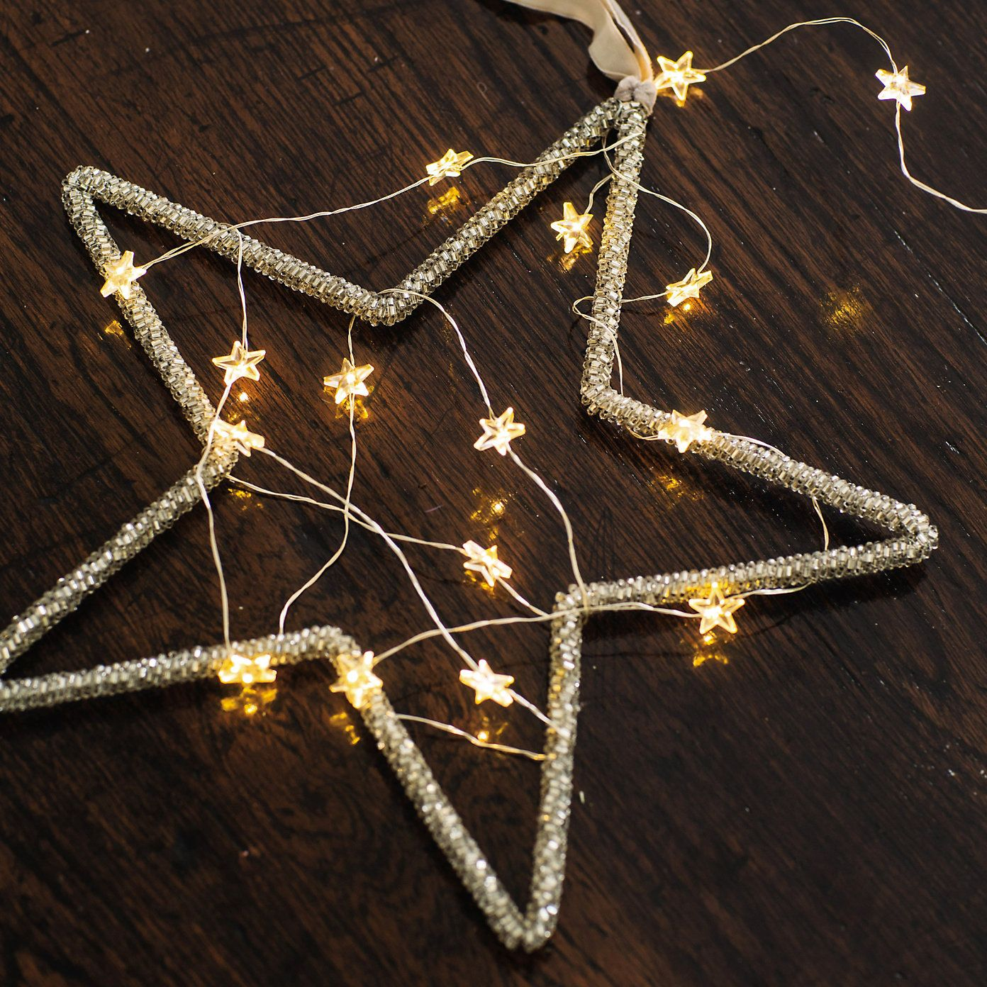 Star #Fairylights Wrapped In A Star Shaped Frame This Is