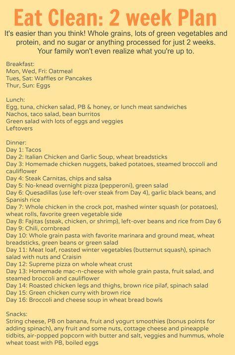 Dieser zweiwöchige Plan für ein Familienessen wird Ihr Leben verändern !!!   – clean eating