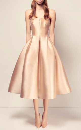 The Maeve Silk Strapless Midi Dress by ALEX PERRY for Preorder on ...