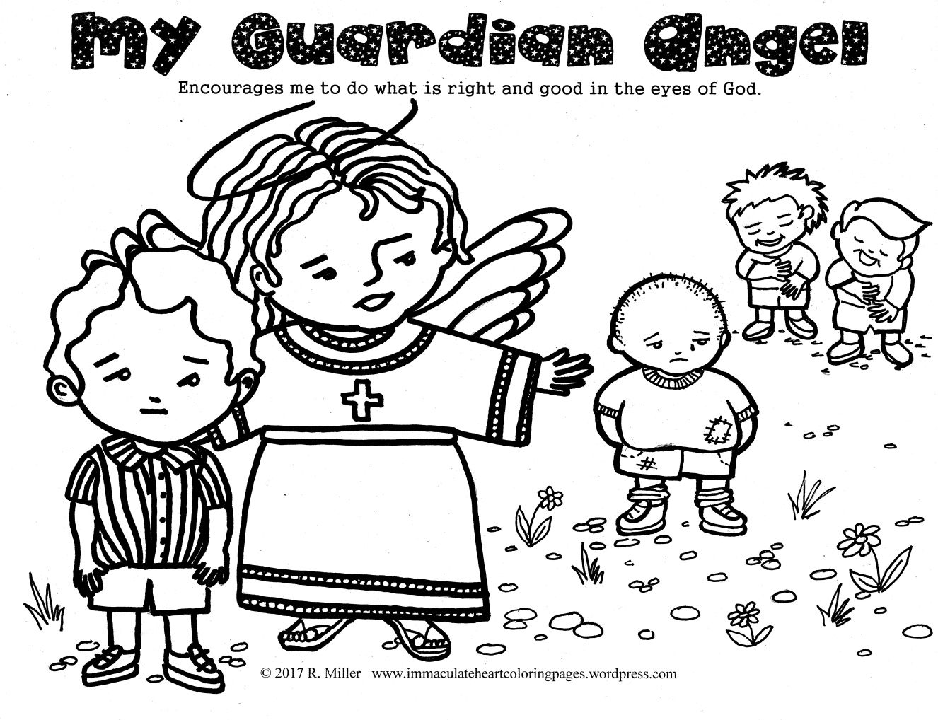 My Guardian Angel Coloring Page Angel Coloring Pages Coloring
